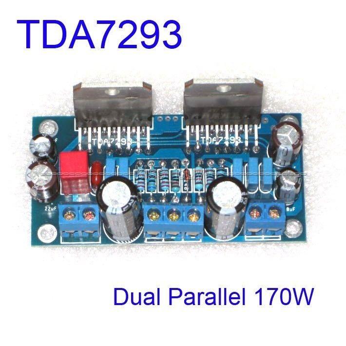 Montiert TDA7293 Dual Parallel 170W BTL Mono Audio Power Verstärker AMP Bord