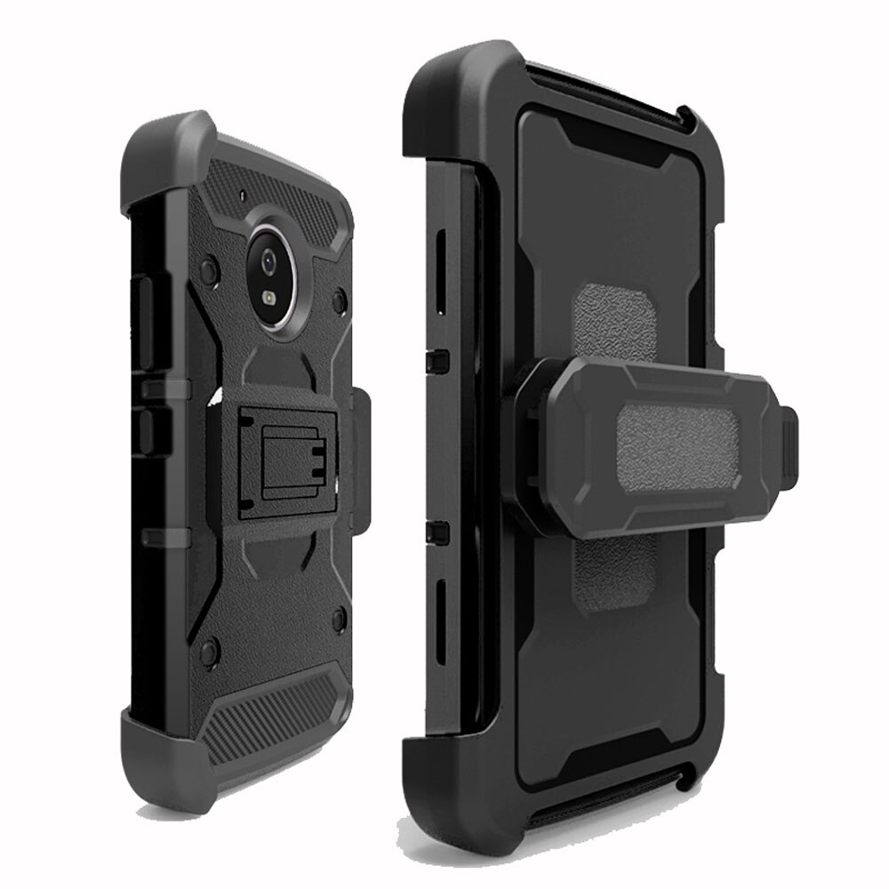 Heavy Duty Hybrid Rugged Case Shockproof Belt Clip Holster Cover For Motorola Moto G5 XT1672 / G5 Plus XT1684 XT1685 XT1687 @