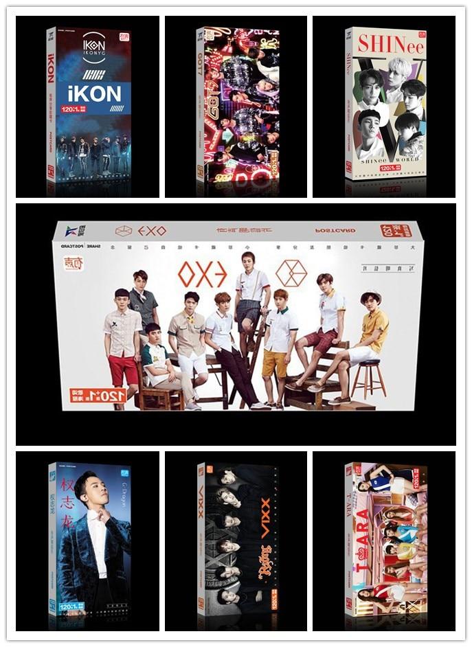 Kpop GOT7 dos veces EXO CNBLUE BIGBANG álbum de G-DRAGON Artbook pegatina para postal Lomo tarjetas juego de libros foto regalo colección