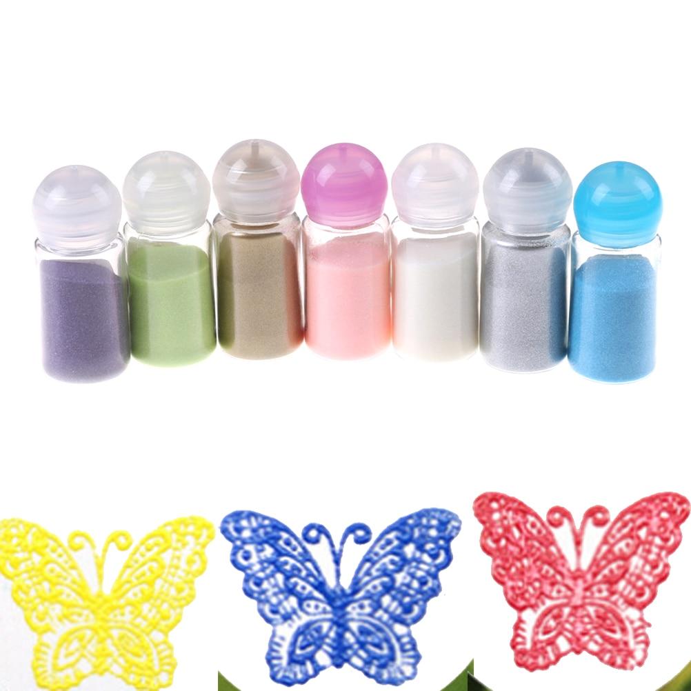10ML/Bottle  Shiny Colour Embossing Pigment Stamping Scrapbooking Craft Embossing Powder DIY Metallic Paint Emboss Powder