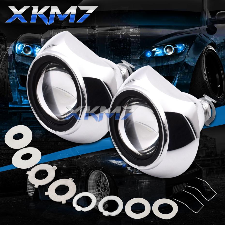 Auto Car lentes proyector faro Tuning H4 H7 Mini bi-xenon lente 2,5 para accesorios de luces de coche Retrofit uso H1 HID lámparas