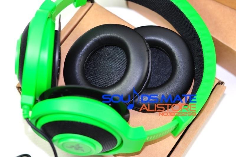 Almohadillas de piel de reemplazo de proteína más suave almohadillas de espuma para auriculares de juego Razer DRAKEN
