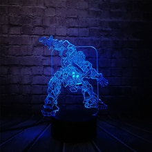 Cartoon Robot Transform Car Ratchet 3D Lamp Night USB LED Lighting Christmas Gifts Decora luminaria Children Table KIDS TOYS