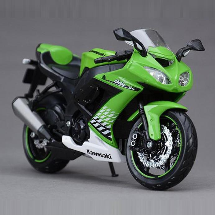 Envío Gratis Maisto Kawasaki ZX-10R Ninja 112 motocicletas Diecast Metal deporte modelo de bicicleta de juguete nuevo en caja para niños