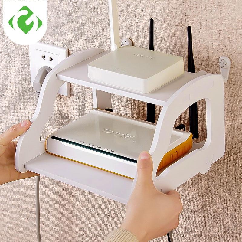 Muur opslag multifunctionele plank woonkamer opbergrek TV Set Top Plank wifi Router plank Set-top box holder opslag houder