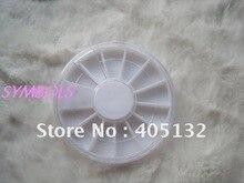 NA-16 envío gratis 100 unids/lote 6 cm * 0,8 cm, de plástico, 12 espacios redonda vacía de caso de diamantes de imitación de la rueda