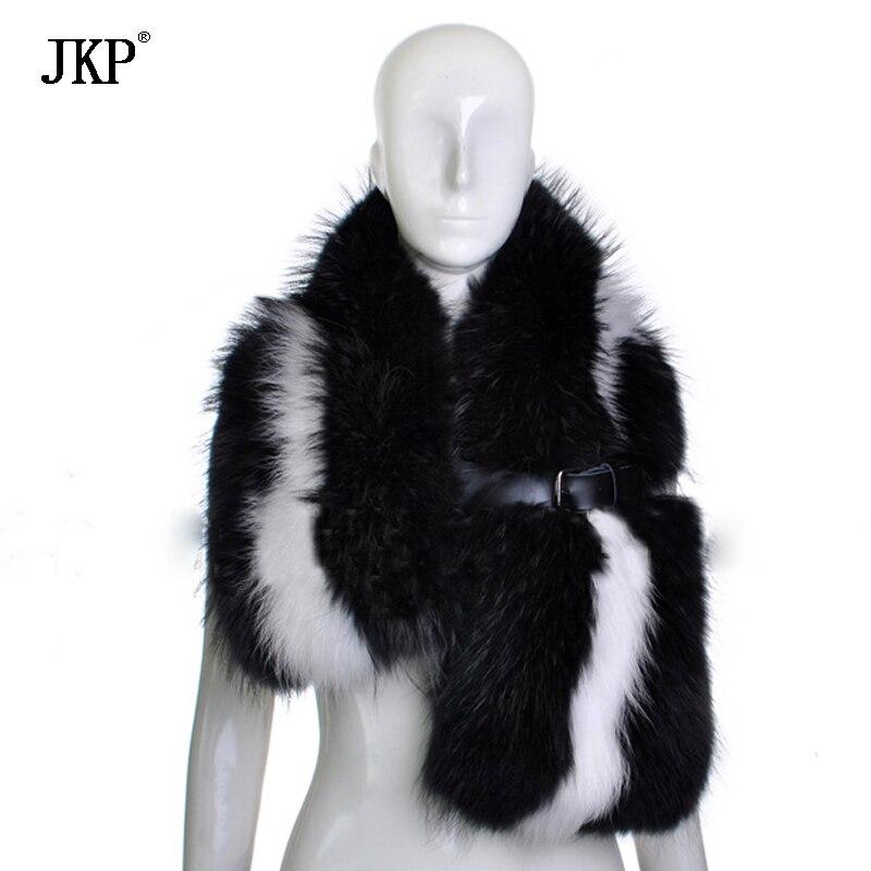 JKP المرأة 100% الطبيعية الثعلب الفراء وشاح الثعلب الفراء طوق وشاح لينة الفراء وشاح الخريف والشتاء الرقبة الدافئة الجلود الفراء طوق