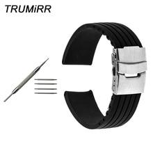 Bracelet en caoutchouc de Silicone pour Tissot T035 rpc 200 T055 T097 bracelet de montre bracelet noir 17mm 18mm 19mm 20mm 21mm 22mm 23mm 24mm
