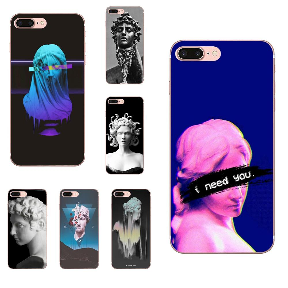 Para Apple iPhone X XS X Max XR 4 4S 5 5C 5S SE 6 6 S 7 7 Plus Top detallada teléfono caso arte estatua de David nuevo Super lindo