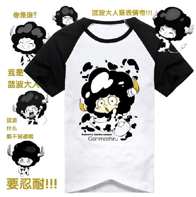 Katekyo Hitman Reborn Cotton T-Shirt Anime Men LAMBO Short Sleeve Tops Sawada Tsunayoshi Cosplay Tees