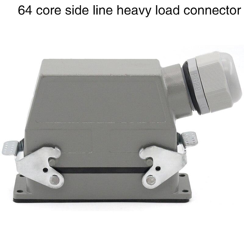 Hdc-hd-064 الثقيلة ضغط موصل 64 النوى مستطيلة سد المقبس الصناعي للماء المكونات 10a