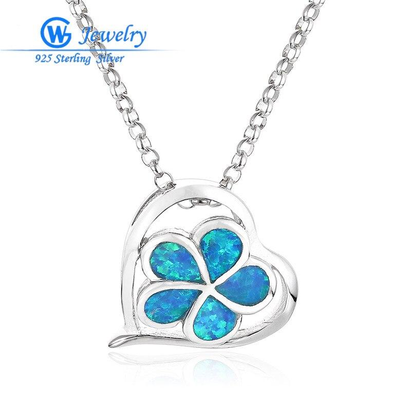 Nuevo diseño flor azul ópalo gemas 925 esterlina pendientes de plata de...