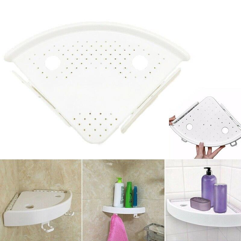 Estante de ducha Triangular para baño estante de almacenamiento de esquina plástica estante organizador J2Y