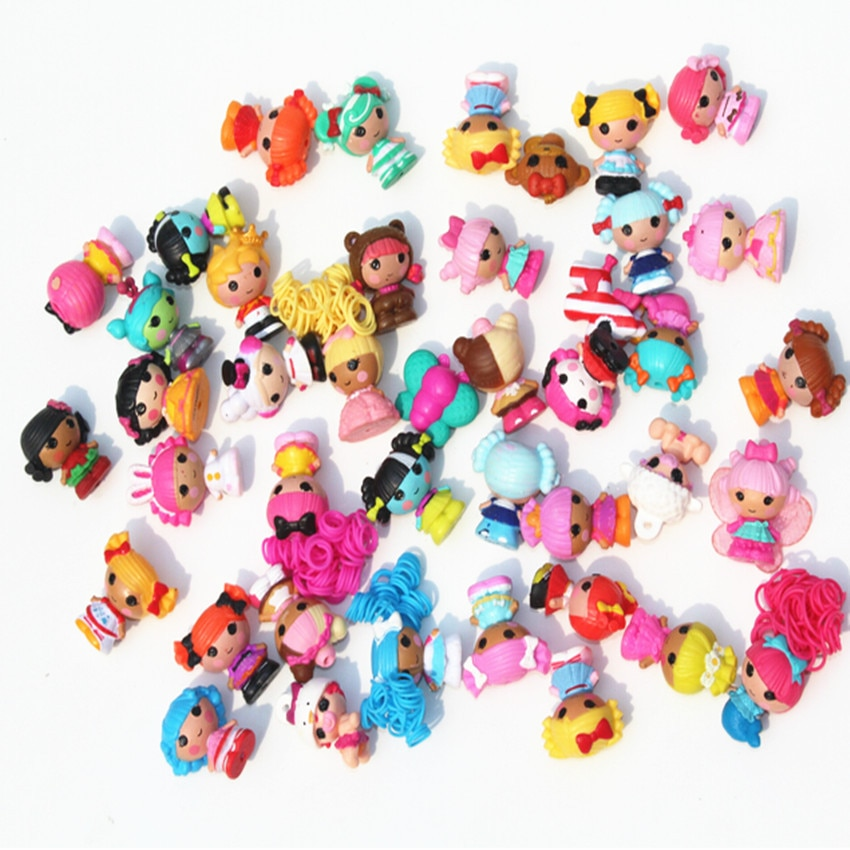 Skyleshine 50 pçs/lote Lalaloopsy Bonecas E Acessórios 4cm S6202 Play House Toys Action Figure Meninas Boneca de Brinquedo