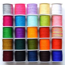140m Length Cords Black Red Pink Blue White Diameter 0.4mm Nylon Rope Weave String Thread for Bracelet Making Diy Findings