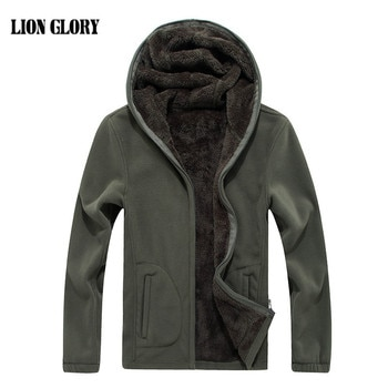 Winter Men's Hooded Cardigan Thick Fleece Men's Hoodie jacket Winter Thickening Sweatshirt Thicker Plus Velvet Large Size 7XL