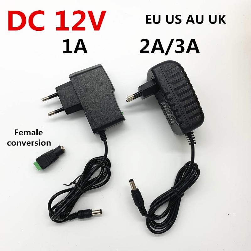 AC 110V 220V to DC 12V 1A 2A 3A Transformer Power Supply LED Driver Adapter 12 Volt 12 V Converter C