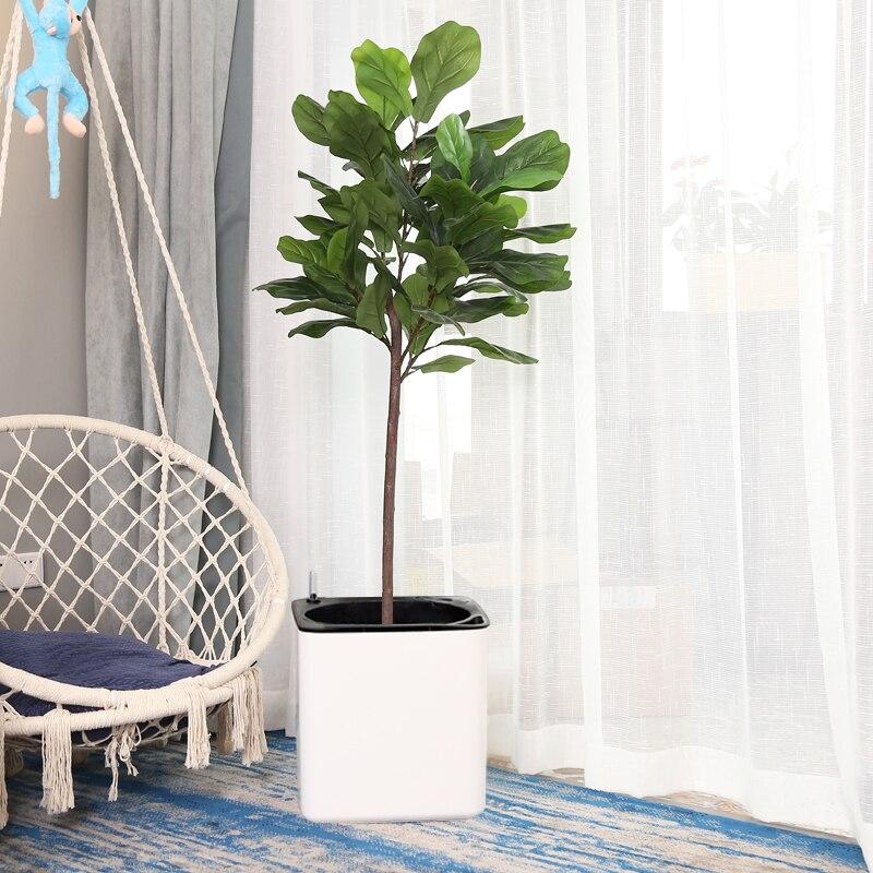 Grande size30 cm margic quadrado preguiçoso auto absorção de água criativo personalizado porcelana vaso de flores de plástico para graden planta