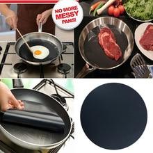 2Pcs Round Twin Pack Pan Mat Non-stick Baking Liner Sheet Q Grill Mat Reusable Cooking Mats HG99