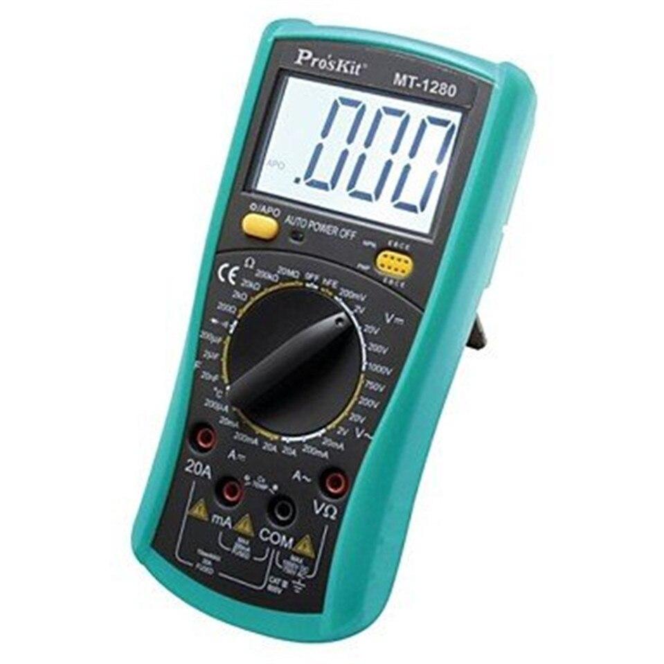 Multímetro Digital profesional de MT-1280 auténtico Original caliente con capacitancia de función de temperatura