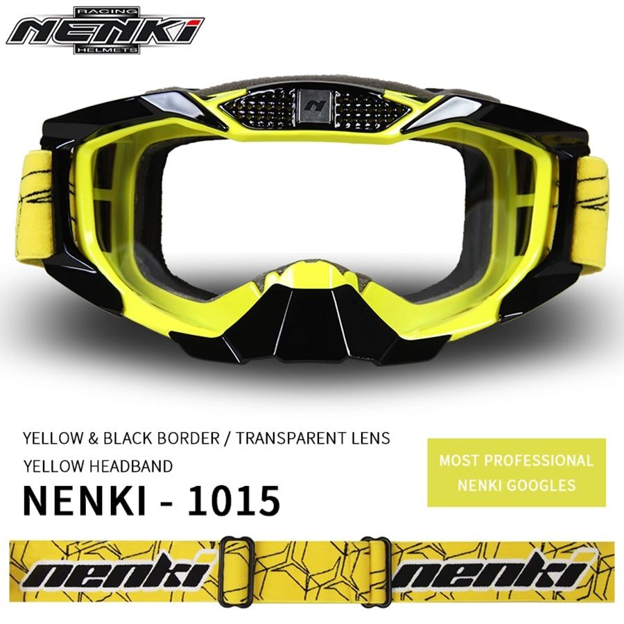 Darmowa wysyłka 1 sztuk NENKI motocykl Off-Road Motocross sport ATV Dirt rowery gogle motocyklowe okulary Clear Lens