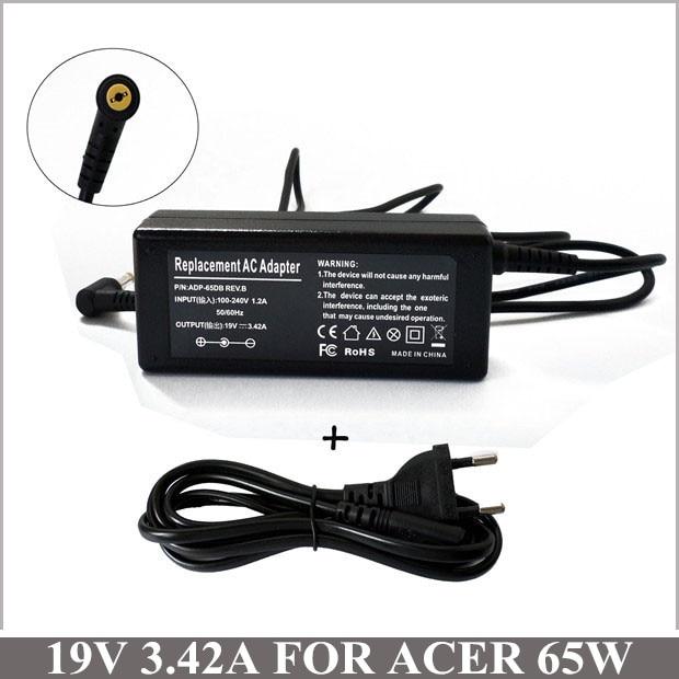 19V adaptador de CA de 65W cargador del ordenador portátil cargador portátil para Acer Aspire V5-551-8401 V5-551-7850 V5-571-6119 5740-5749 5749Z 5755