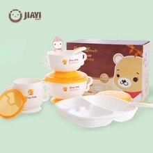 Bols disolation chaude   Ensemble de vaisselle pour bébé 6 pièces, cuillère fourchette tasse antidérapante ventouse bol enfants bébés alimentation