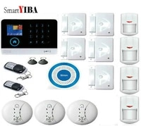 SmartYIBA     detecteur de fumee dincendie  controle par application Android IOS  capteur  systeme dalarme de securite domestique  GPRS  GSM  wi-fi  clavier LCD