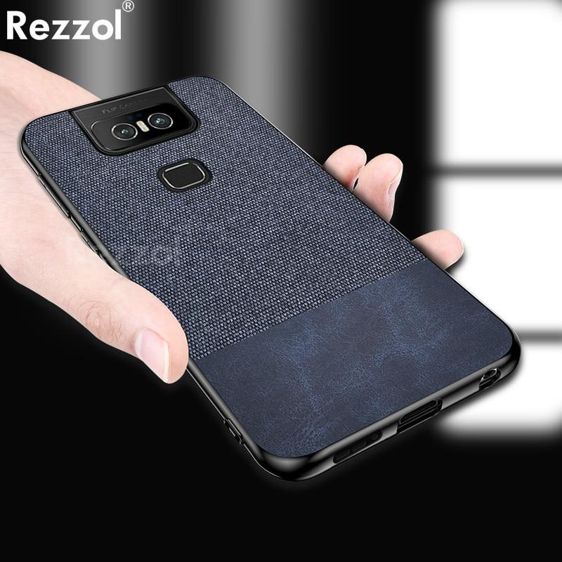 For Asus Zenfone 6 ZS630KL Case Fabric Cloth Soft Silicone Bumper Hard PC Back Cover For Zenfone 6Z Zenfone 6 2019 Case Fundas