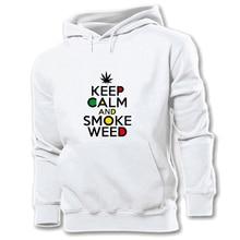KEEP CALM AND SMOKE WEED Scott Body Shop Friends Monica and Rachel Girls White Womens Pattern Hoodie Sweatshirt Hooded Pullover