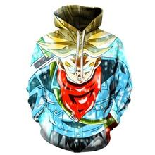 Jumeast hombres/mujeres 3d impreso sudaderas Dragon Ball Z Super Saiyan Hoodie Pullovers Dragonball sudaderas con capucha con bolsillos