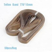 Ceinture de téflon de scellant de bande de FR-770, taille 770*15mm pour le scelleur continu de bande dencre solide de scelleur de bande, 50 pièces/sac, bande à hautes températures