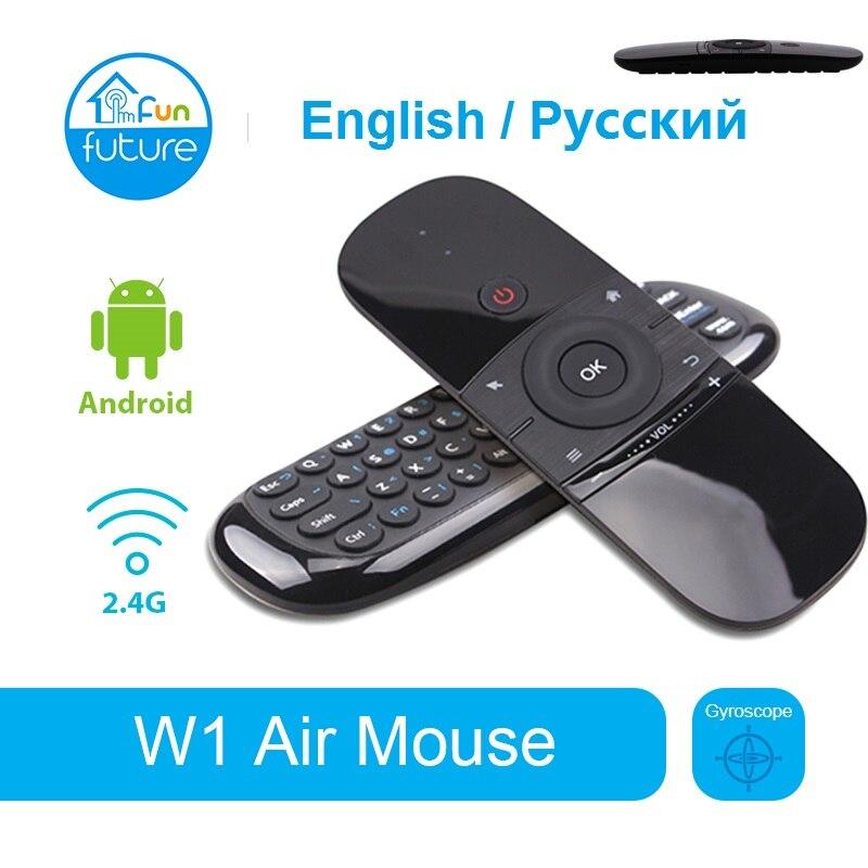 W1 русская/английская мини воздушная мышь, беспроводная клавиатура 2,4G, распознавание, летучая мышь для Android TV Box/PC/TV vs G10 G20S g20