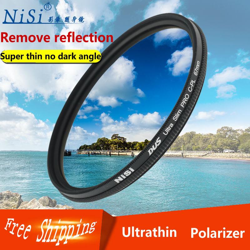 NiSi 37mm CPL Ultra delgado filtro Polarizador Circular de la Lente de la Cámara envío gratis para sony micro único a6300a6000a5100a5000 NEX5t