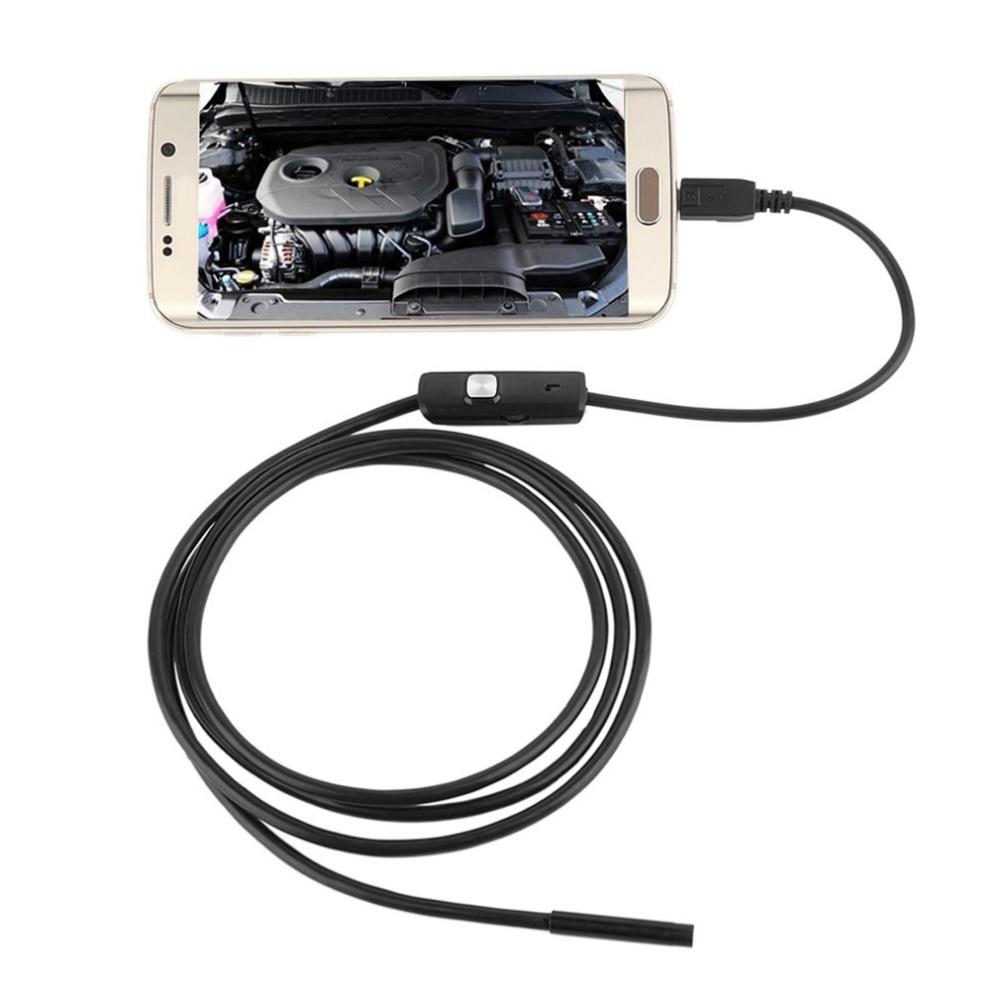 6 светодиодный 1 м/7 мм объектив ушной очиститель эндоскоп водонепроницаемый