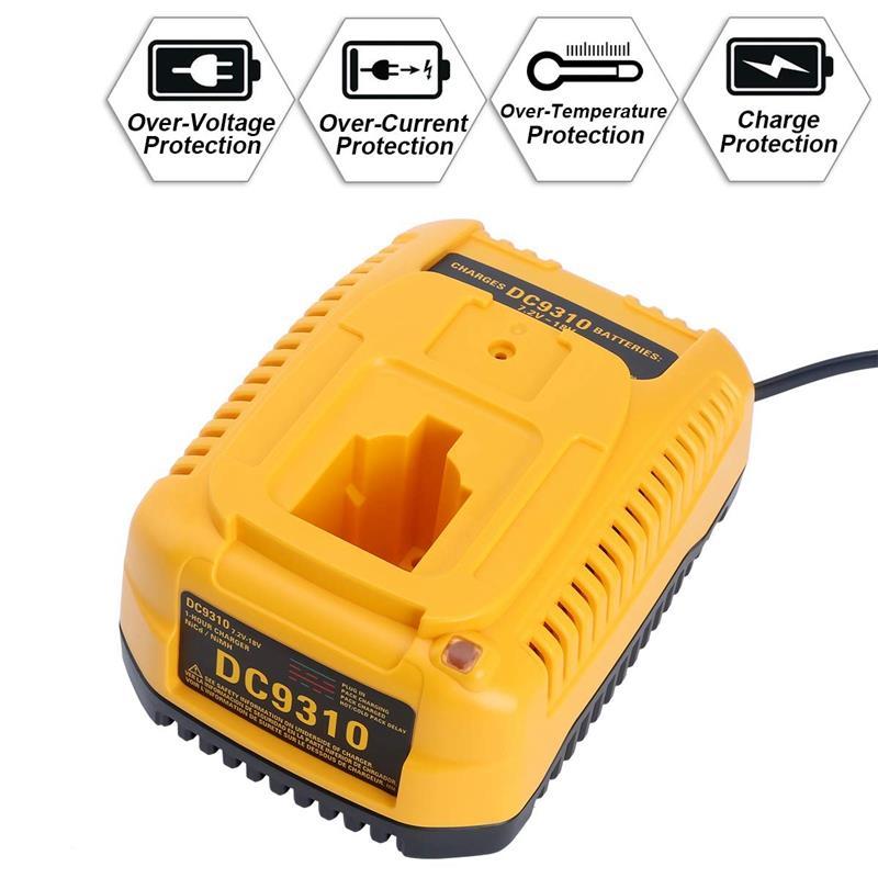 Dc9310 Fast Charger for Dewalt 7.2V-18V Xrp Ni-Cd Ni-Mh Battery Dc9096 Dc9098 Dc9099 Dc9091 Dc9071 De9057 Dw9096 Dw9094 Dw9072