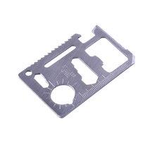 Couteau suisse multifonction couteau de carte de crédit, 11 en 1 outils dextérieur pour la survie en Camping couteau de poche militaire SOS