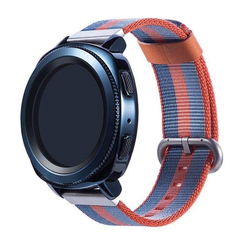 20MM Nylon bracelet de montre pour Xiaomi Huami Amazfit BIP montre intelligente, bracelet pour Samsung Gear S2 classique SM-R7320/engrenage Sport SM-600