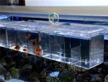 Suspender aquário arcylic guppy bebê pequeno peixe separação caixa de reprodução doentes peixes ar promover