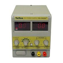 YAXUN 1502DD + 14 pièces/lot   Pour téléphone portable Phone15V 2A, alimentation DC réglable avec affichage en ligne, réglable