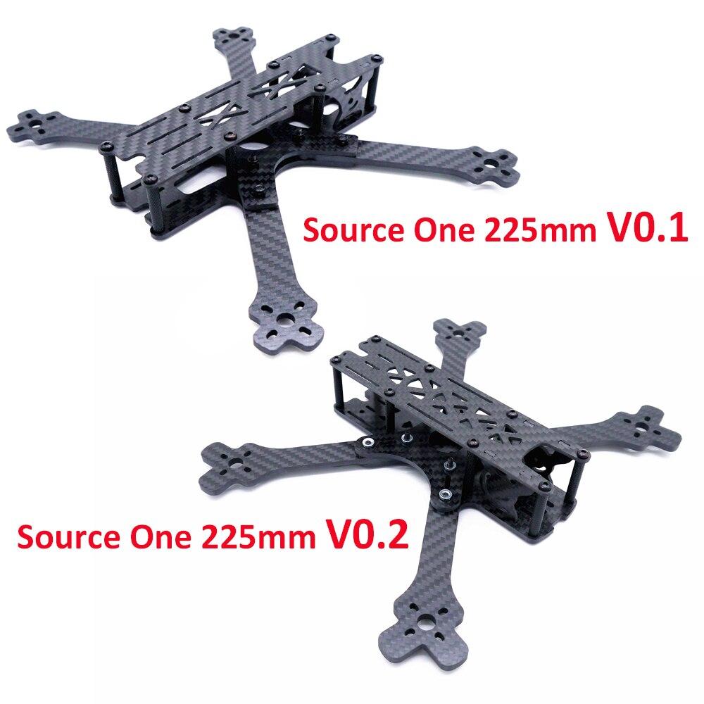 """Źródło jeden 5 """"5-calowy V0.1/V0.2 225 225mm z 4mm ramieniem X rama FPV Racing Drone rama quadcoptera zestaw"""