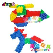 JingQi Jq1068 plastic puzzle toys Inserting Preschool Learning intelligence combined  jigsaw building model 1 bag free shipping