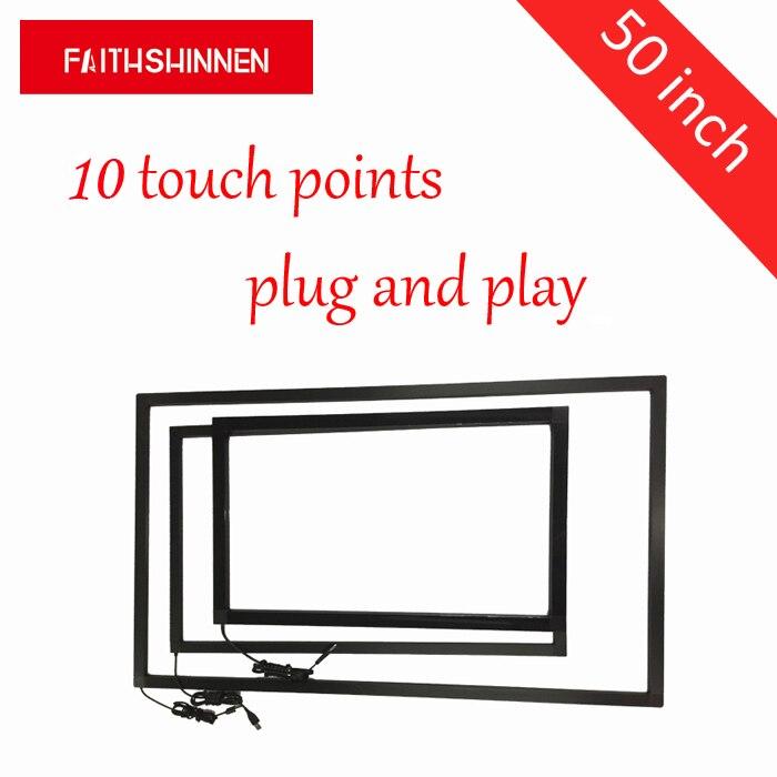 Marco de cobertura de pantalla táctil de 50 pulgadas para pantalla lcd LED con multitáctil de 10 puntos