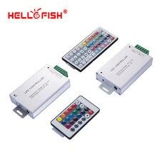 Contrôleur de bande de LED rvb IR 24 44 télécommande clé 12 V 24 V 12 24A pilote de LED Hello Fish