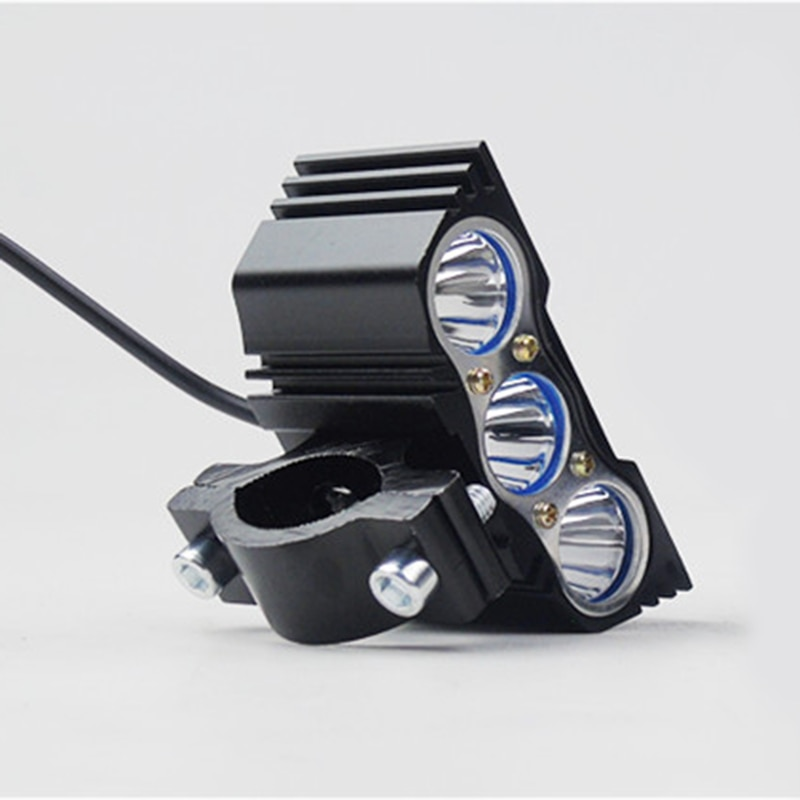 2pcs Motorcycle Headlight led Owl 3LED 2LED Lamp Motorbike Head Lights 12V 20W 1200LM super bright led Autocycle head lamp bulb