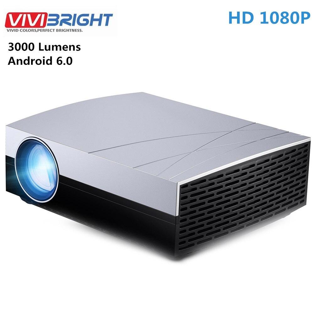 Vivibright f20 up hd lcd projetor de cinema em casa android 6.0 1 gb ram 8 gb rom 3000 lumens 1280x800 resolução bluetooth 4.0