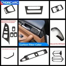 Console couleur en Fiber de carbone   Cadre de sortie dair, panneau de CD décoration, couvercle pour bandes de porte BMW X3 F25 X4 F26 2012-17