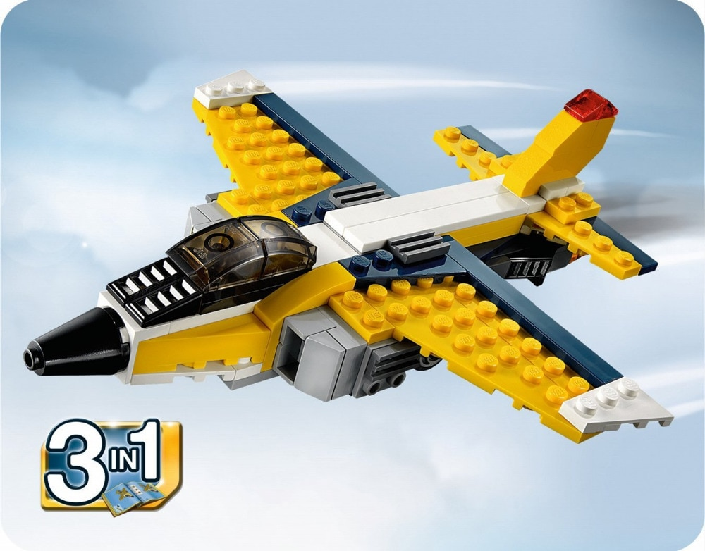 DECOOL 3105 City Architect 3 en 1 creador Super Soarer bloques de construcción modelo niños juguetes Marvel Compatible lepining
