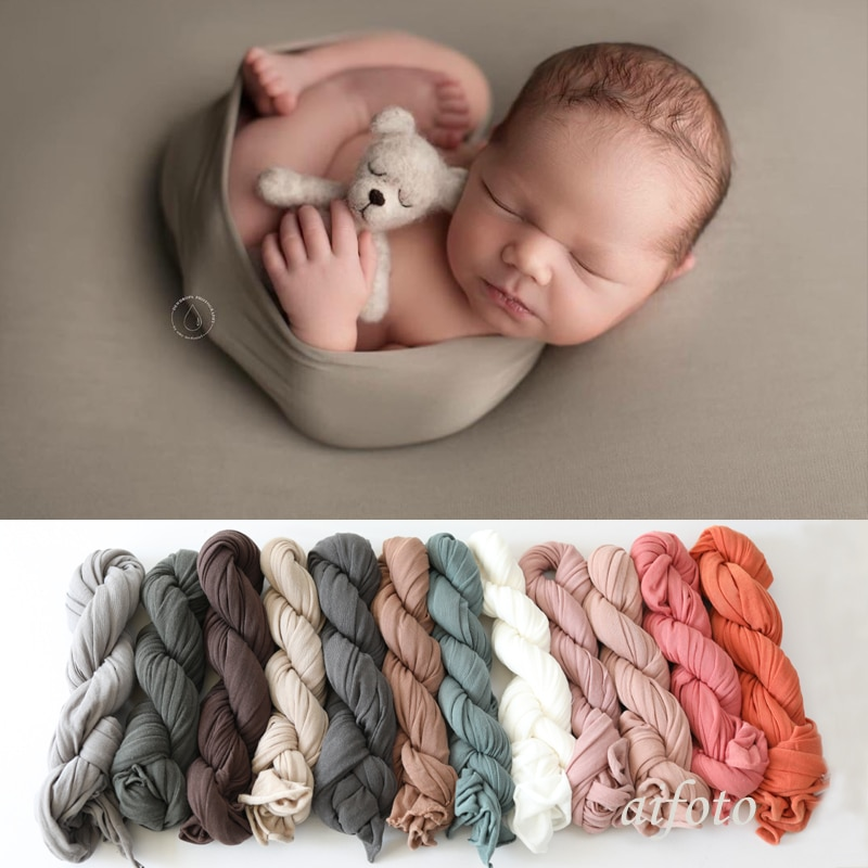 130*150cm Super Comfortable Newborn Stretch Wrap Swaddle Baby Photography Blankets Newborn Shooting Baby Basket Filler Baby Pic