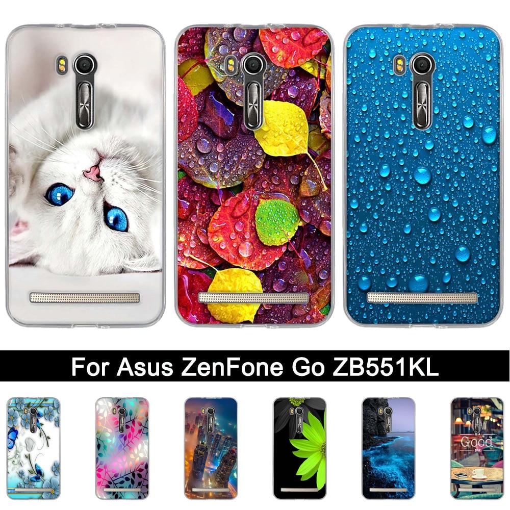 Para Asus ZenFone 3 ZB551KL 5,5 pulgadas suave de silicona caso de la cubierta para Asus ZenFone zb551kl impresión TPU carcasas para teléfono bolsas